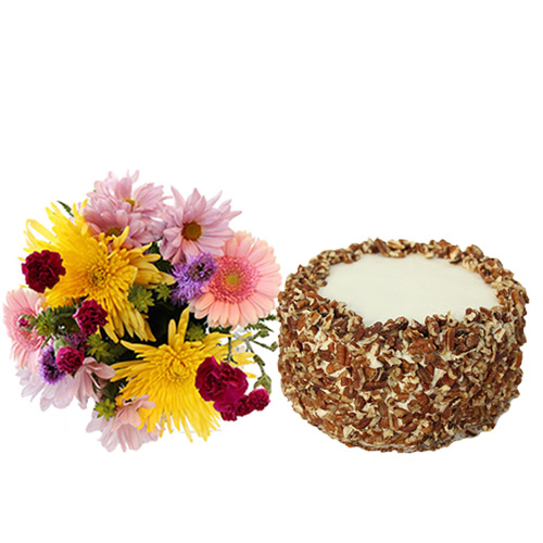 Carrot Layer Cake with Flowers