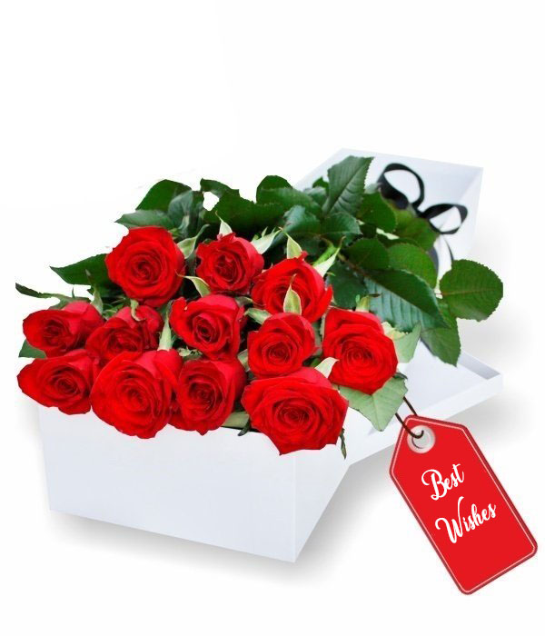Gift Boxed Of Red Roses