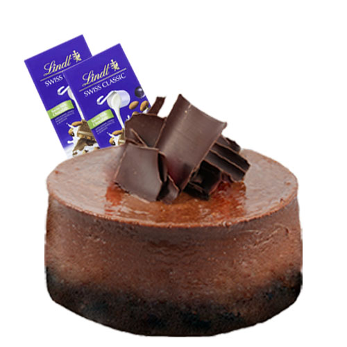 Chocolate Cheesecake with Chocolate