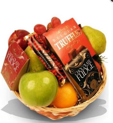 Fruits Chocolate Basket