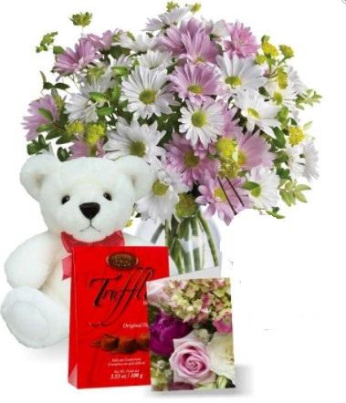 Flowers with Chocolate n Teddy