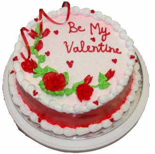 Eggless Valentine  Vanilla Cake