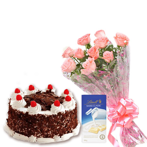 Black Forest Cake with Flowers