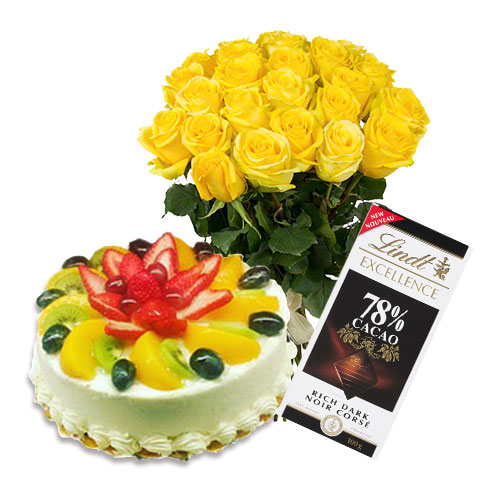 Fruit Cake with Flowers