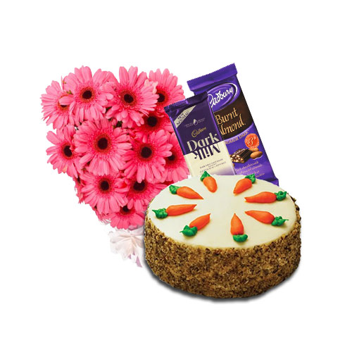Carrot Cake with Flowers