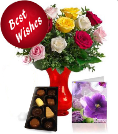 Roses with Chocolate