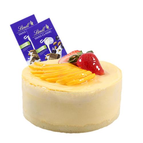 Mango Mousse Cake with Chocolate