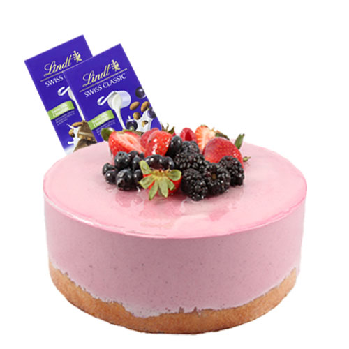 Mixed Berry Mousse Cake with Chocolate