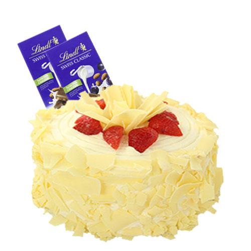 Strawberry Carousel Cake with Chocolate