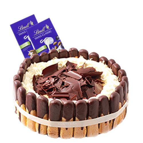 Tiramisu Layer Cake with Chocolate