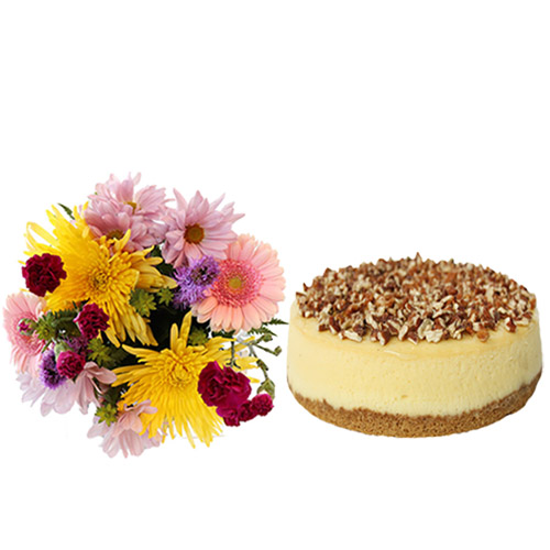 Turtle Cheesecake with Flowers